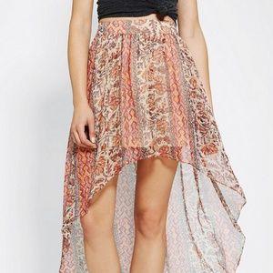 Ecote Urban Outfitters Sachi Highlow Chiffon Skirt